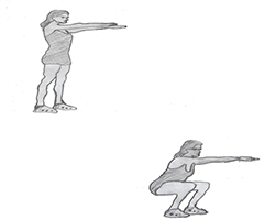 Body weight-Air squat