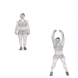 Cardio-Jumping jacks