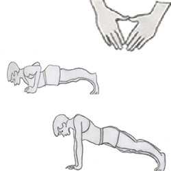 Body weight-Close-Grip Push Up