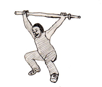 Step 3 for exercise Heaving snatch balance