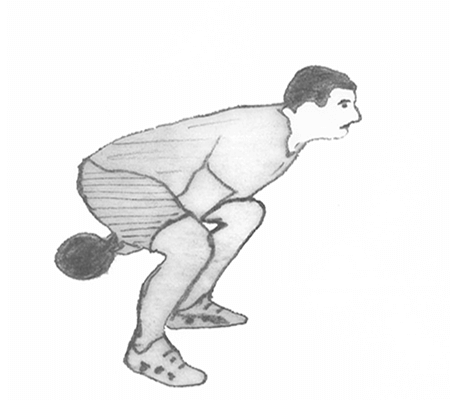 Step 1 for exercise Kettlebell Swings