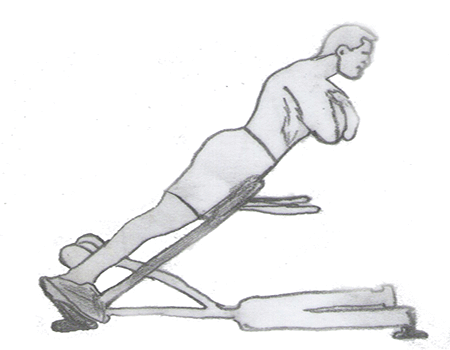 Step 1 for exercise Back extension