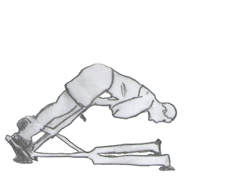 Step 2 for exercise Back extension