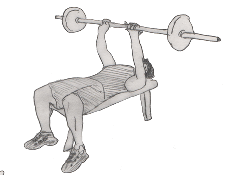 Step 2 for exercise Barbell Bench Press