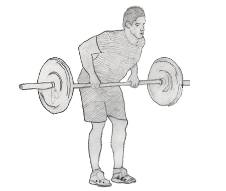 Step 1 for exercise Bent over Row