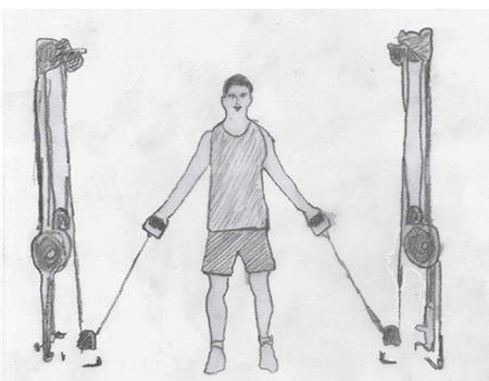 Step 1 for exercise Cable Crossover