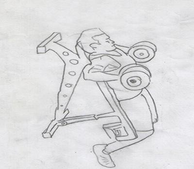 Step 1 for exercise Decline Dumbbell Bench Press