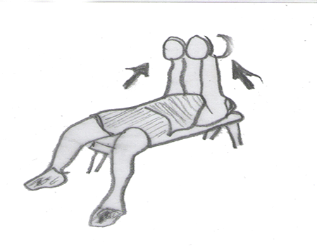 Step 2 for exercise Dumbbell Fly