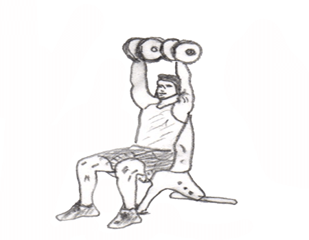 Step 2 for exercise Dumbbell Shoulder Press