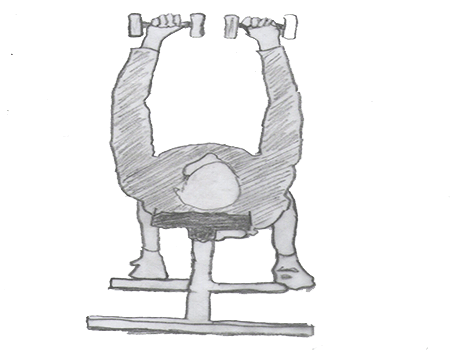 Step 1 for exercise Dumbbell Bench press