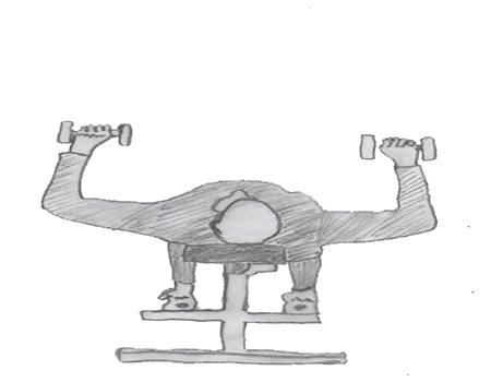 Step 2 for exercise Dumbbell Bench press