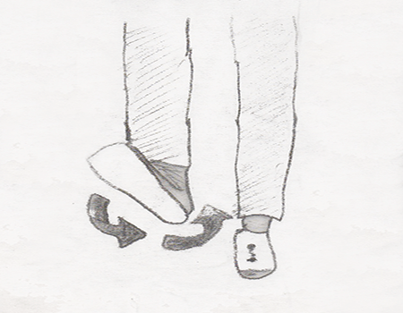 Foot rotation is a stretching exercise which helps to warm up your ankle.