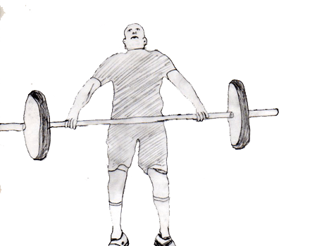 Step 2 for exercise Hang snatch