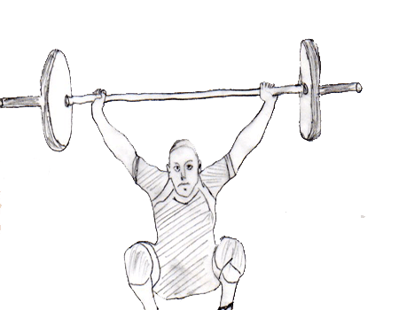 Step 3 for exercise Hang snatch