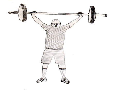 Step 4 for exercise Hang snatch