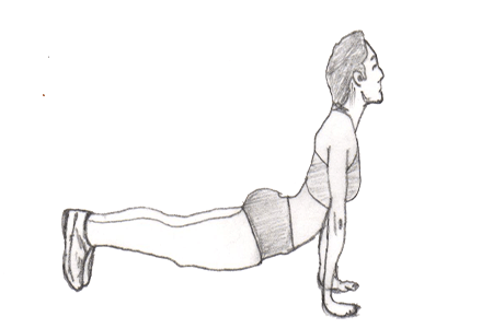Step 3 for exercise Judo Pushups