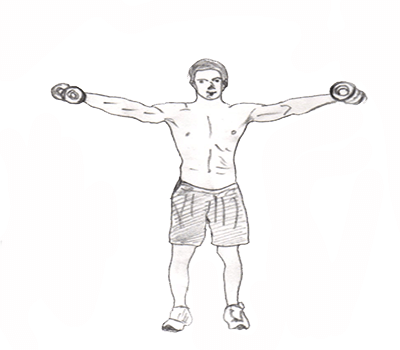 Step 2 for exercise Lateral Raise