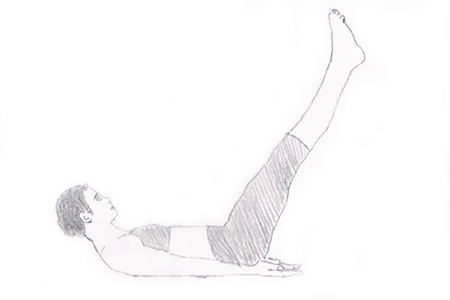 Step 2 for exercise Leg Raise