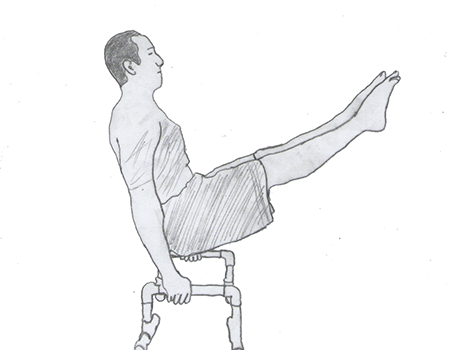Step 1 for exercise L-sit