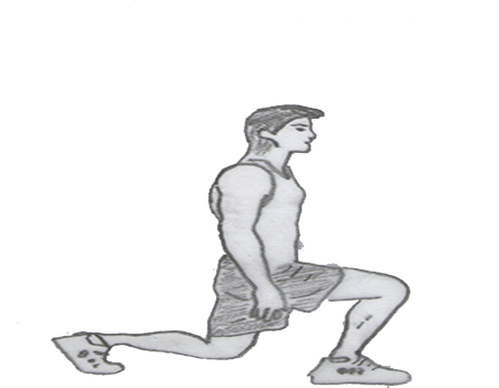Step 2 for exercise Lunge