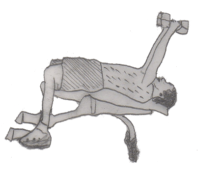 Step 2 for exercise Lying Triceps Extension