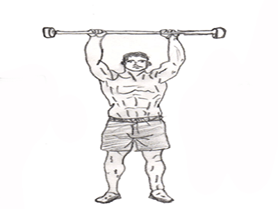 Military press is a best exercise which helps to strengthen your shoulder muscles and triceps muscles.