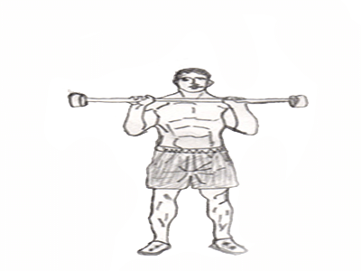 Step 2 for exercise Military press