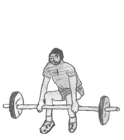Step 1 for exercise Power clean