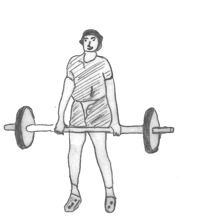 Step 2 for exercise Power clean
