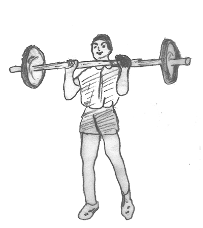 Step 3 for exercise Power clean