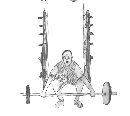 Step 1 for exercise Power snatch