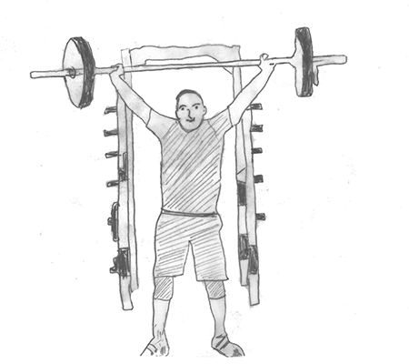 Step 4 for exercise Power snatch