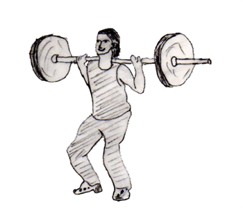Step 2 for exercise Jerk behind the head