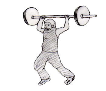 Step 3 for exercise Jerk behind the head