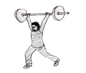 Step 4 for exercise Jerk behind the head