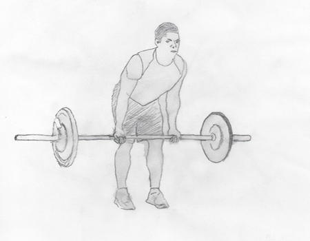 Step 1 for exercise Reverse Grip Rows