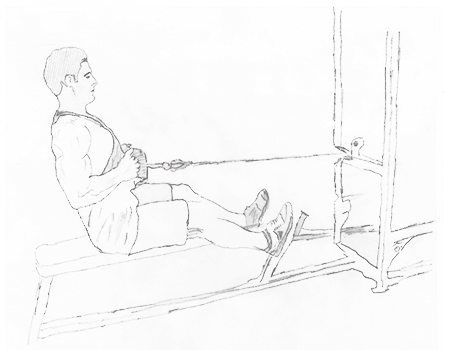 Step 1 for exercise Seated Cable Rows