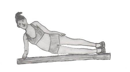 Step 2 for exercise Side Plank