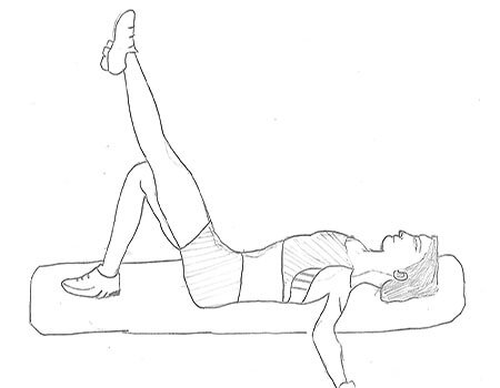 Step 1 for exercise Single Leg Butt Lift