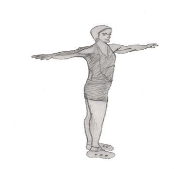 Step 1 for exercise Spine twist