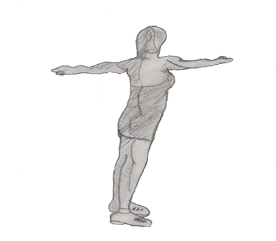 Step 2 for exercise Spine twist