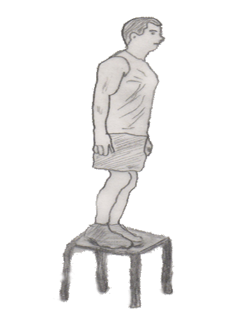 Step 2 for exercise Step-up onto chair