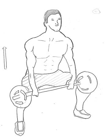 Step 2 for exercise Sumo Deadlift