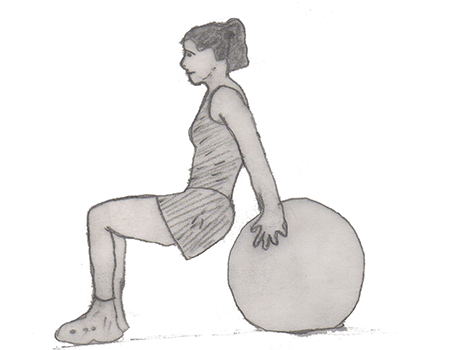 Swiss Ball dip is a fantastic exercise for your deltoids, trapezius, erector spinae and transverse abdominis.