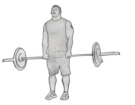 Step 1 for exercise Upright Barbell Row