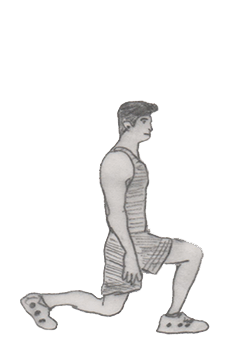 Step 2 for exercise Walking lunges