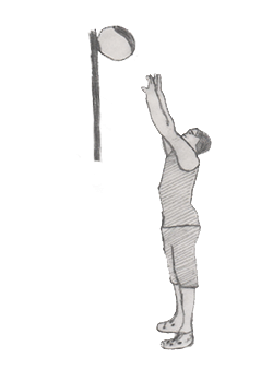 Step 2 for exercise Wall Ball