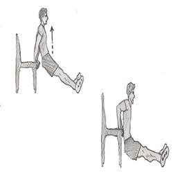Triceps-Triceps dip on chair