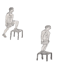 Legs-Step-up onto chair