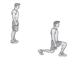 Body weight-Lunge